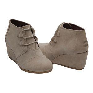 ❤️TOMS Kala Desert Taupe Suede Women's Booties 6.5